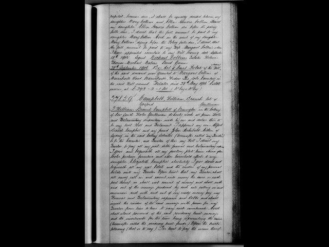 Last Will and Testament of William Branch Campbell