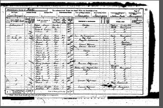 1891 Census of England and Wales - Farringdon, Berkshire - William, Jonathan and Charles Tucker