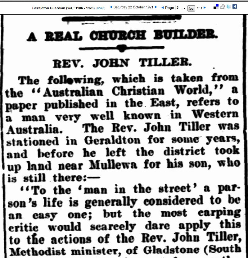 A Real Church Builder - Rev John Tiller