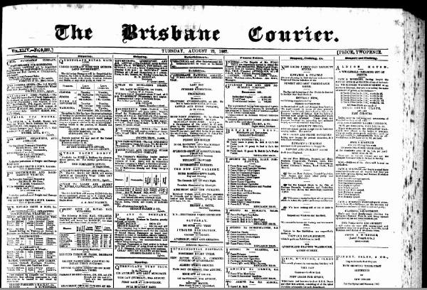 The Brisbane Courier Newspaper, Tuesday, August 23, 1887