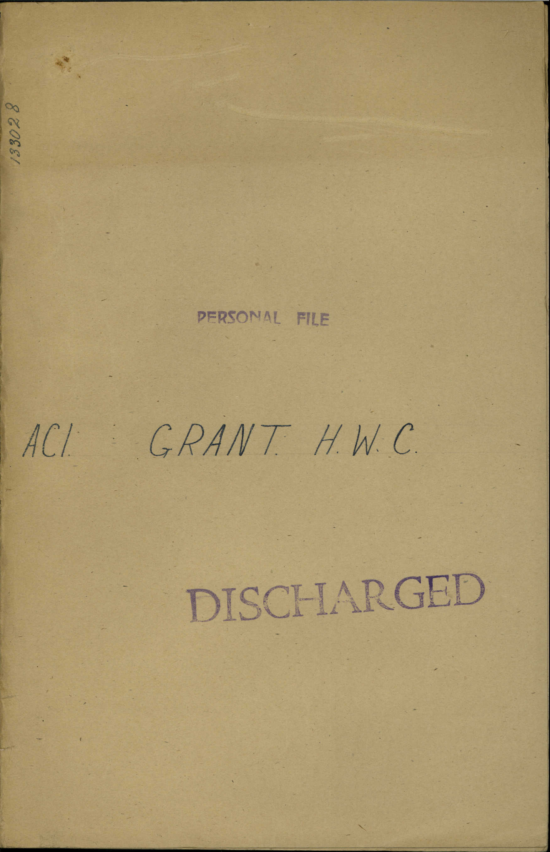 World War I Military Service Record of William Alfred Pracy